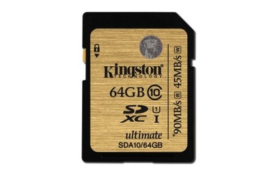 KINGSTON ULTIMATE 64 GB SD SDXC Class 10 +90/45MBs