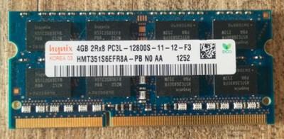 HYNIX 4GB 2Rx8 PC3L - 12800S - 11 - 12 - F3