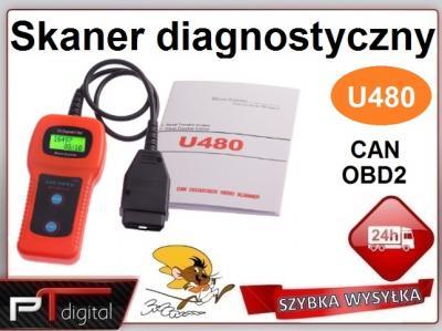 Skaner diagnostyczny OBD2 U480 ELM PL w 24h/FV