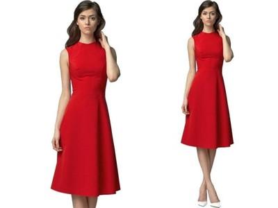 d2fe64e7 Elegancka Rozkloszowana Sukienka bez Rękawów XL 42 - 6147035678 ...
