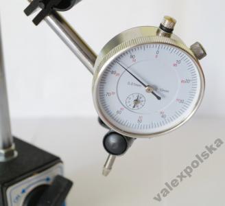 Czujnik zegarowy 0-10mm 0,01 z UCHWYTEM 24H F-Vat