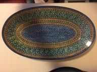 Ceramika BOLESŁAWIEC Półmisek duży 44,5cm UNIKAT