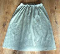Dzianina wełna ciepła spódnica jak NOWA r. 52 54