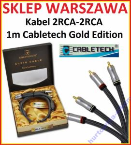Kabel 2RCA-2RCA 1m Cabletech Gold Edition KPO3827