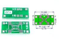 PCB kwarc / oscylator adapter, FVAT