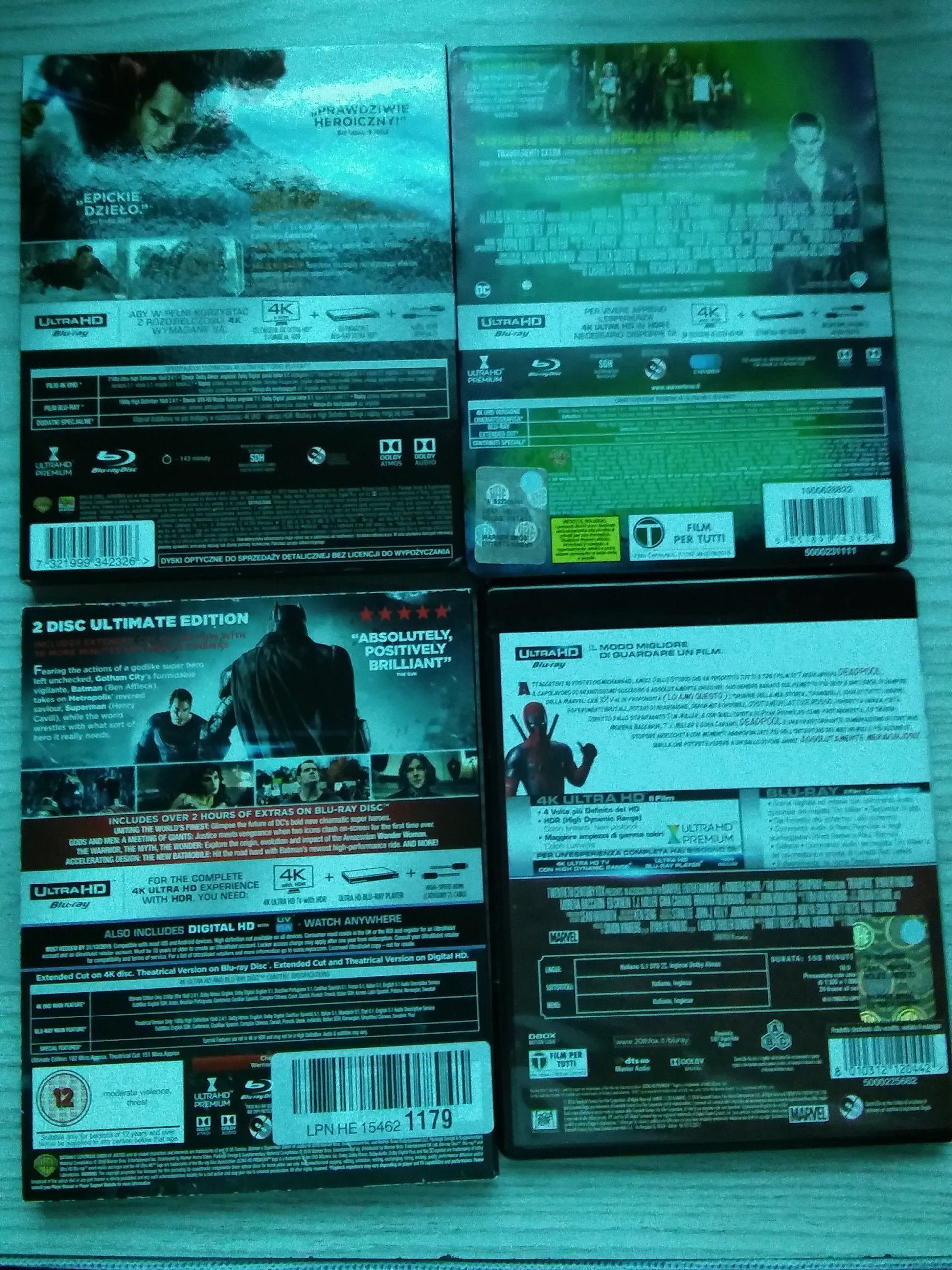 ZESTAW 4-ECH FILMÓW 4K PLUS PREZENT FILM NA DVD