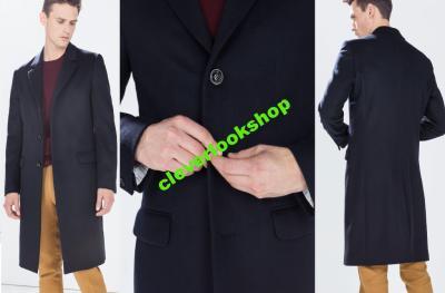 d69a078905 ZARA męski płaszcz 100% wełna LOOKBOOK BLOGGERS M - 4816840829 ...