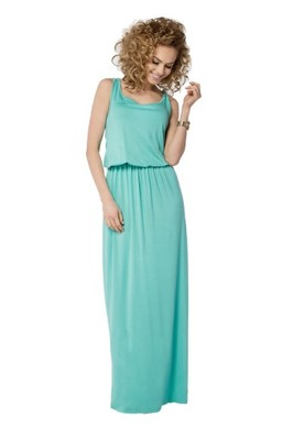 b879aacf40 Sukienka maxi MAKADAMIA 021 rozmiar 44 miętowy - 6787337858 ...