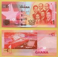 -- GHANA 1 CEDI 2013 FB P37c UNC