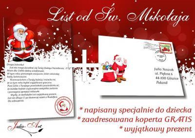 List Od Swietego Mikolaja Koperta 24 H 5732273398 Oficjalne Archiwum Allegro