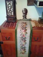 Stary kilim rękodzieło haft, metalowe okucia. Cudo