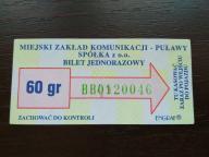 bilet u99 Puławy rew. wzorek