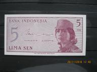 142.  Banknot  Indonezja 5 SEN UNC
