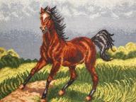 Haft krzyżykowy obraz makatka rękodzieło 57x45cm