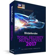 BitDefender Total Security 2017 3PC / 2Lata KONT