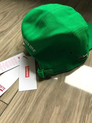 Supreme x Lacoste Pique Camp Cap Czapka 5 panel