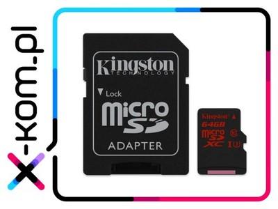 Karta pamięci 64GB KINGSTON 90MB/s UHS-I U3