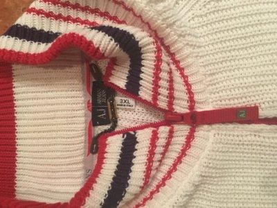 Armani jeans sweter XL jak nowy sygnowany marine