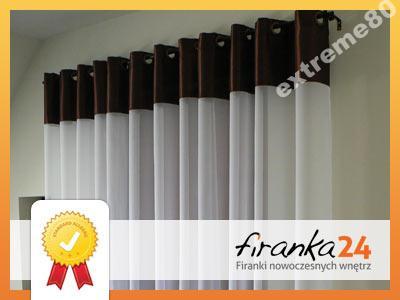 Firany GOTOWE Woal Zasłony Tafta Przelotki 145x245