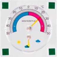 Termometr Higrometr Przyklejany Bimetaliczny Zaok