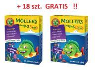 Mollers Żelki Rybki Malinowe 72+18 GRATIS NOWOŚĆ !