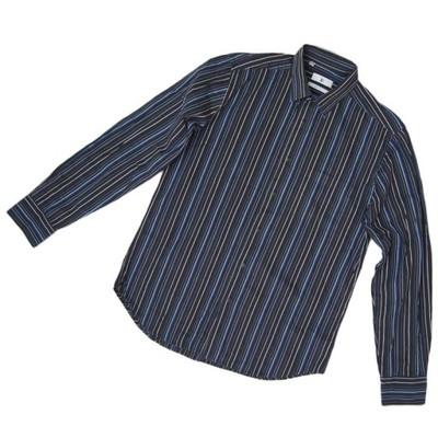 JP - REGULAR FIT - bawełniana koszula - paski - L