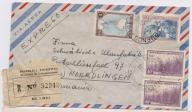 Argentyna - koperta polecona z 1951 roku