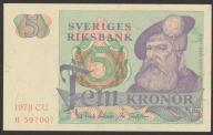 Szwecja - 5 koron - 1978 - stan bankowy UNC -
