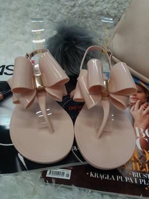 beż beżowe sandały japonki meliski kokardka r 38
