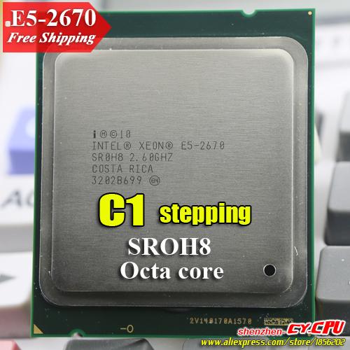 XEON E5-2670 2.60/3,3GHz 8-CORE/16 wątków / 20MB