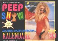 KALENDARZ PEEP SHOW 1995 Calendar Akt Erotyka