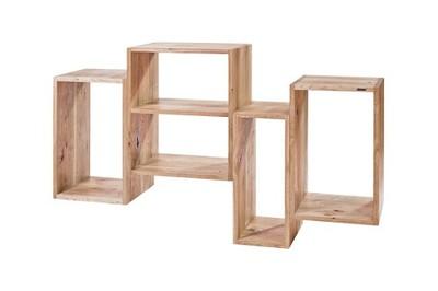 Regał Drewniany Do Salonu Półka Na ścianę Dębowa
