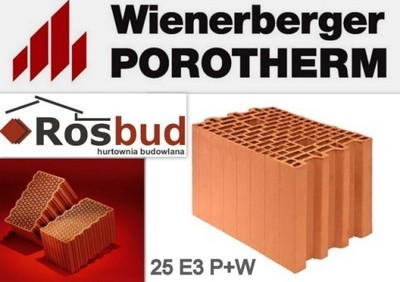 Pustak Ceramiczny Porotherm 25 E3 Wienerberger 6572771010
