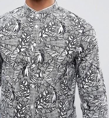koszula Casual Friday stójka impreza modna L