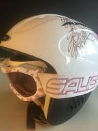Kask narty Alpina +Google włoskie j. nowe xs 48-52