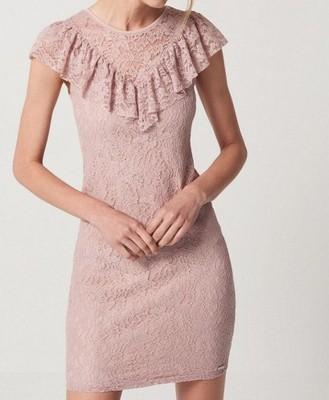 66ef653b MOHITO sukienka koronka pudrowy róż HIT M 38 488 - 6826216355 ...