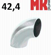 Nierdzewne kolanko rury D42,4x2 spawane SZLIF