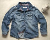 Koszula Jeans Kwiaty Vintage- LINDEX-5-6 lat