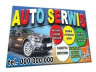 AUTO SERWIS BANER 2x1m samochód volkswagen vw ford