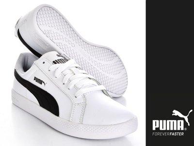 Buty PUMA PUMA SMASH Białe Trampki (360780 02)