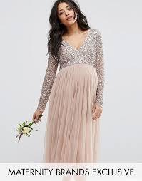 5d65bf55 ASOS Maya Maternity tiulowa sukienka ciążowa L
