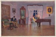 Kobieta mężczyzna fortepian muzyka (ok.1930)