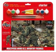 Airfix 1:32 55212 WWII US Infantry Figures Multipo