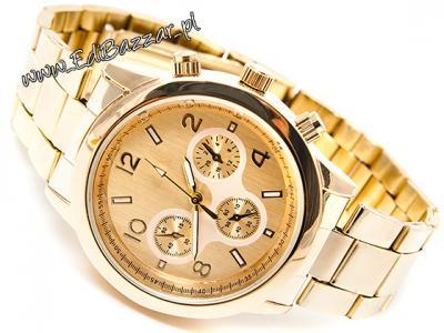 zegarek geneva bloger złoty metalowy
