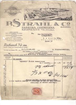 SZOPIENICE FABRYKA CHEMICZNA RR 1931