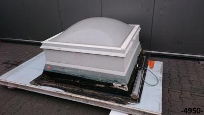 Poważnie Świetlik wyłaz dachowy kopułkowy 100x100 cm - 5934980609 AM07