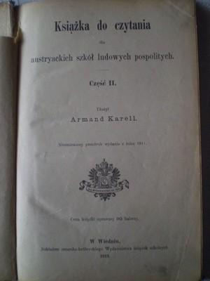 Czytanki szkolne dla polskich dzieci Galicja 1913r