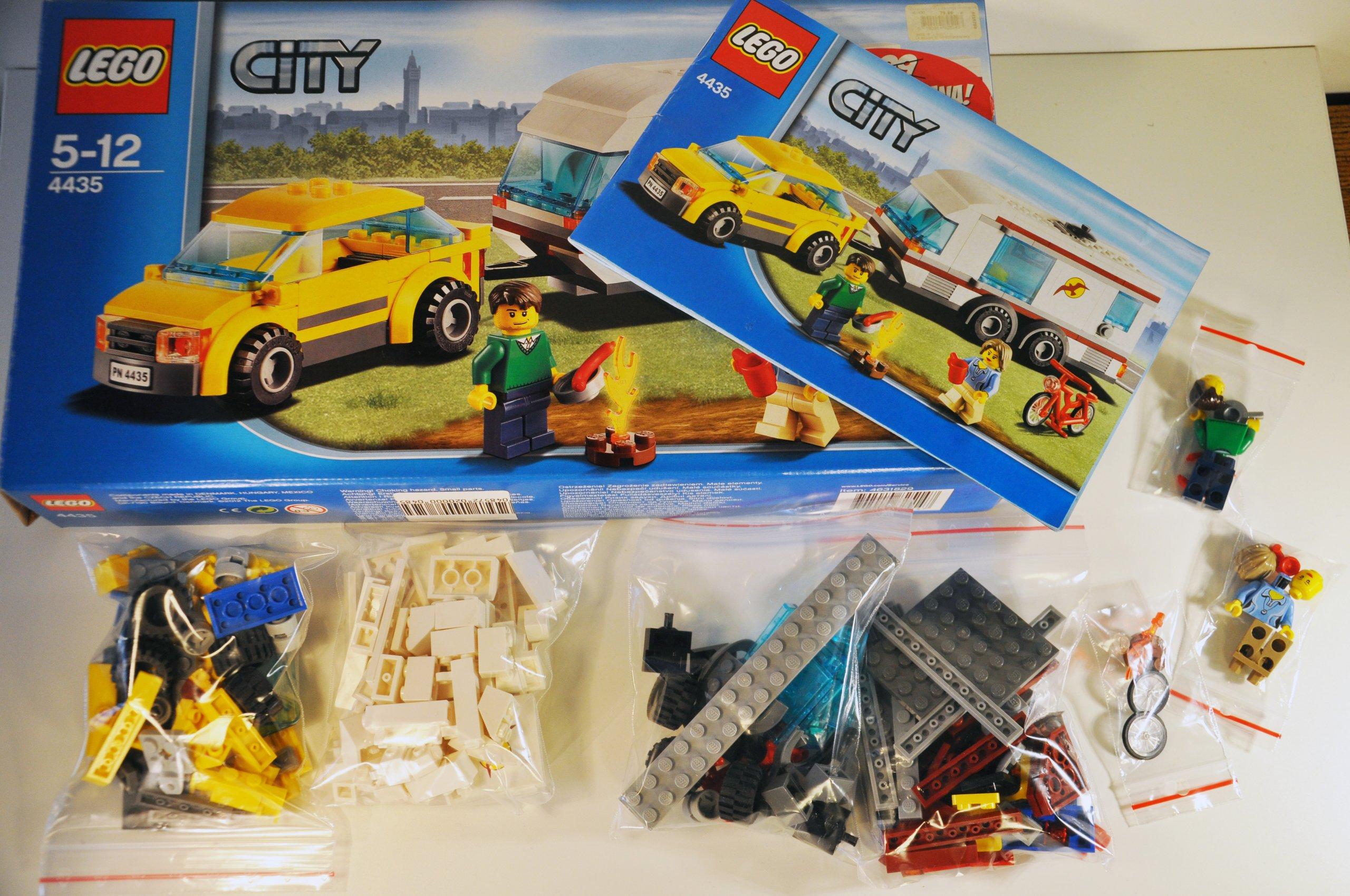 Lego City 4435 Samochód Z Przyczepą Kempingową 7065263841