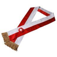 Szarfa biało-czerwona dla pocztu sztandarowego