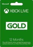 Xbox Live Gold 12 miesięcy zdrapka Xbox 360 One